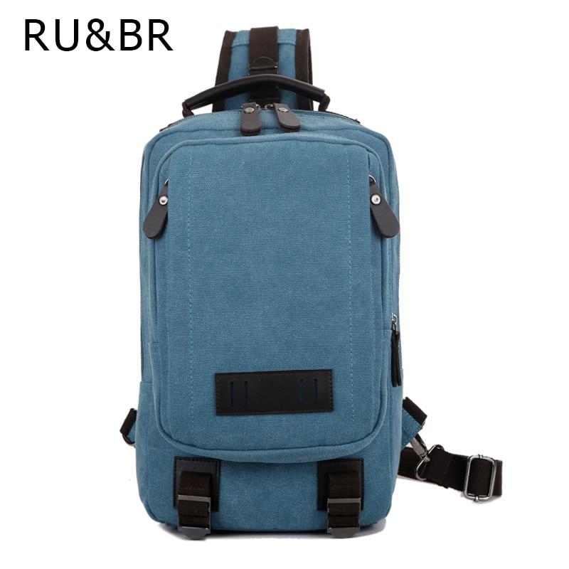 RU&amp;BR 2017 New One Shoulder Bag Casual Canvas Bag Pocket Travel Mens Canvas Bag Waterproof Leisure Bag Backpack Man<br><br>Aliexpress