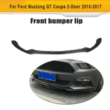 Carbon Fiber Front Bumper Replace Lip Apron Spoiler for Ford Mustang Coupe 2 Door Only 15-17 V6 V8 Not Shelby GT350 Car Styling(Hong Kong)