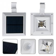 Solar lights 4LED/6LED sink fence lamp eaves lamp corridor balcony induction outdoor wall lamp(China)