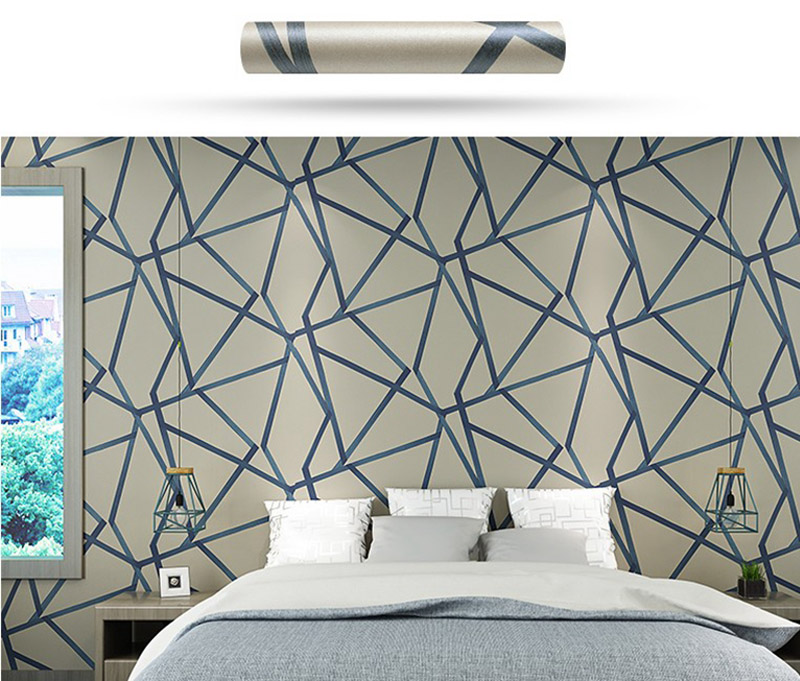 Non-Woven 3D geometric modern design wallpaper for walls Irregular pattern wallpaper for home decor living room background <br>