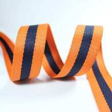 Orange Navy 32mm 50mm wide net ribbon 48 yards Striped Webbing polyester twill for sewing Bag Handles decoration