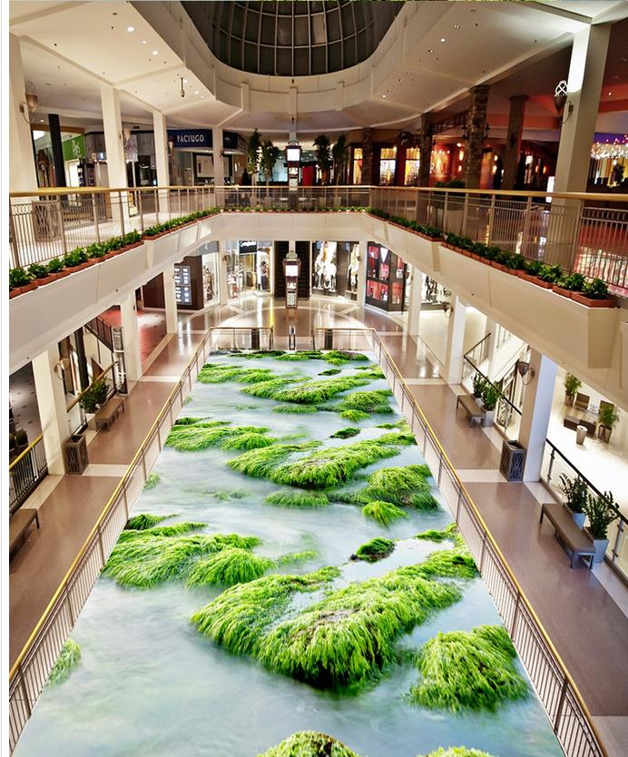 3D wallpaper 3d floor murals Liver PVC waterfall floor Waterproof floor mural painting  self-adhesive 3D floor <br>