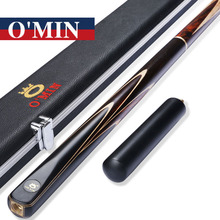 2017 New O'Min 3/4 Snooker Cues 9.5mm/10mm/11.5mm Tips 3 4 Snooker Cues Case Set China