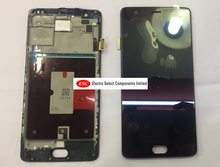LCD Display + Touch Digitizer Screen glass   For Oneplus 3T A3010  with frame  Free Shipping