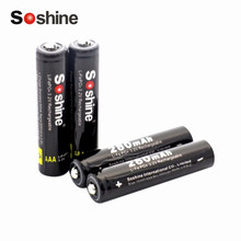 4 pcs/lot Soshine AAA 8.4V 280mAh Rechargeable battery LiFePO4 Cell With 2 Battery Connectors High Energy Density(China)