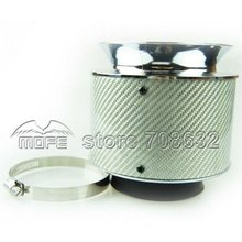 3D Weaving Tech & High Grip Design White Carbon Fiber Air Intake Kit / Auto Air Filter For Car