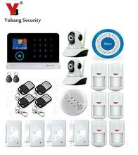 Yobang Security Touch Screen 3G GSM Alarm System WIFI SMS Smart Home Burglar Alarm With IP Camera For Baby/Pet/Elder Monitor