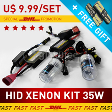 35W DC XENON HEADLIGHT HID KIT SLIM BALLAST Bulbs H1 H3 H7 H8/9/11 9005 9006, 4300K 6000K 8000K 10000K 12000K GLOWTEC - DHL