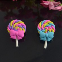 15pcs/lot flat back resin cartoon character resin lollipop ,DIY resin craft accessories fashion resin cabochons(China)
