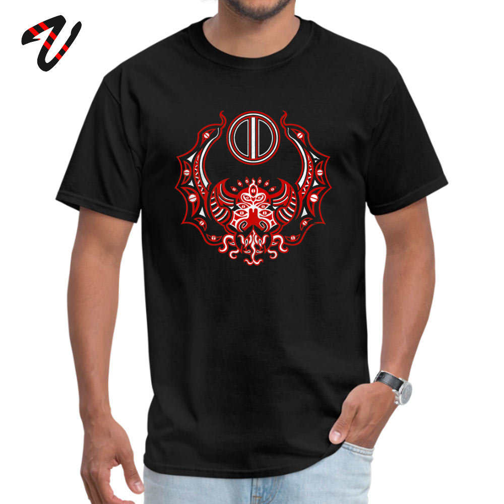 Men T Shirts Casual comfortable Tees 100% Cotton Fabric O-Neck Short Sleeve Family Tshirts Summer Drop Shipping The Crimson Bat Steed of the Red Goddess by Kalin Kadiev -500 black