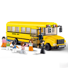 Sluban 0506 School Bus Building Blocks 392 pcs/set Car Model Building bricks DIY Toys Compatible with(China)