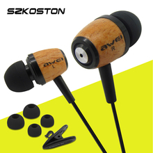 AWEI Q9 Wooden Earphones Super Bass Earphone 3.5mm Jack For iPhone Xiaomi HTC Computer MP3/4 Players(China)