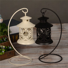 Iron Moroccan Style Candlestick Candleholder Candle Stand Light Holder Lantern Candelabra Centre Pieces Table Decoration(China)