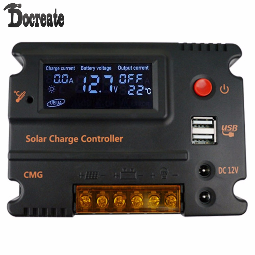 20A 12V 24V Auto Switch LCD Solar Panel Battery Regulator Charge Controller<br>