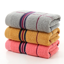 Jacquard Plaid 34*75cm Soft 100% Cotton Terry Hand Towels for Adults Decorative Face Bathroom Hand Towels Toallas de Mano V5836