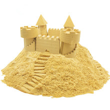 New pattern 250g/ box 7 color clay sand model non stick hand power color sand indoor magic sand education kids Mars space sand