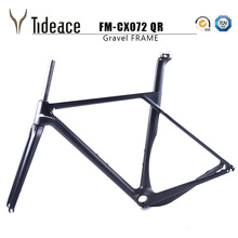 Buy 2017 Tideace Updated Axle 142/135mm Road MTB Gravel Carbon Bike Frame Gravel Carbon Bicycle Frame Cyclocross Disc Bike Frame for $529.90 in AliExpress store