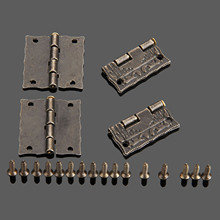 20Pcs 26*23mm Antique Bronze Cabinet Hinges Furniture Accessories Jewelry Boxes Small Hinge Furniture Fittings For Cupboard(China)
