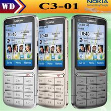 Original Nokia C3-01 Touch and type 5MP Wi-Fi FM radio Touchscreen cell phone refurbished
