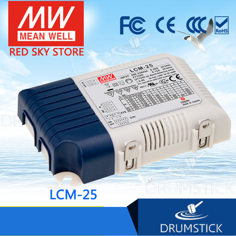 Selling Hot MEAN WELL LCM-25 28V 900mA meanwell LCM-25 28V 25.2W Multiple-Stage Output Current LED Power Supply<br>