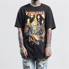 Mens Vintage Rock T-shirts Heavy Metal Black Tee shirt Summer New Fashion Metallica Special T shirt Unisex Music Tees Tops M-XL