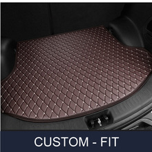 Custom fit car trunk mat for Volkswagen Beetle CC Eos Golf Jetta Passat Tiguan Touareg 3D car-styling tray carpet cargo liner
