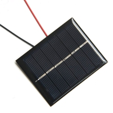 BUHESHUI Mini 0.6W 3V Solar Cell With Wire/Cable Polycrystalline DIY Solar Panel System Battery Charger Education 60*75MM 10pcs