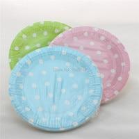 ipalmay 1200 pcs/lot Hot Sale 9\  Round Paper Plates Polka dot Dinner Set & Polka Dot Paper Plates - Shop Cheap Polka Dot Paper Plates from ...