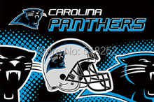 Carolina Panthers new helmet Flag 3x5 FT 150X90CM NFL Banner 100D Polyester Custom flag603, free shipping(China)