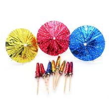 Free Shipping Party Wedding Suppliers, Disposable Tableware, 100mm/4 Inches Hawaiian Umbrella Cocktail Picks, 500/Pack