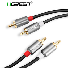 Ugreen 2RCA to 2 RCA Male to Male Audio Cable Gold-Plated RCA Audio Cable 2m 3m 5m for Home Theater DVD TV Amplifer CD Soundbox(China)