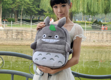 Kid's Backpack ; SIZE 30*25cm Fits 4-10 Years Kawaii TOTORO Plush Backpack , Children Baby Kindergarten Backpack Shoulder Pack