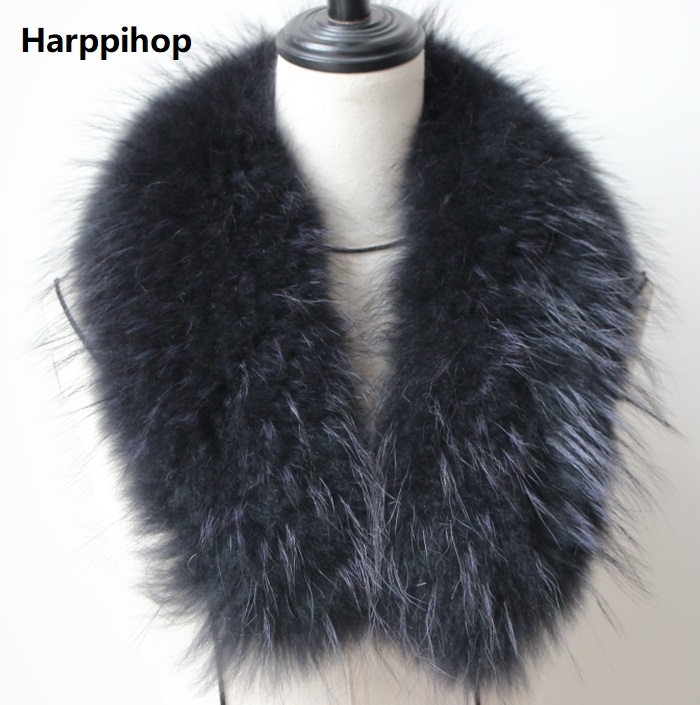 Real fox fur Collar Women Shawl Wraps Shrug Neck Warmer coat Fur Collar Stole Natural fox fur Ring scarves