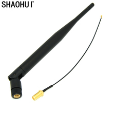 SHAOHUI Extension Cord UFL to RP SMA Connector Pigtail Cable IPX to RP-SMA Male SMA to IPX 1.13 17cm for 2.4G 5DB WIFI Antenna