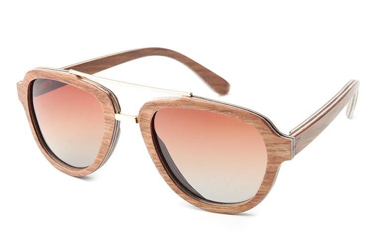 2017 Fashion Veneer Wooden Sunglasses Men Women Twin-Beams Bamboo Sun Glasses Polarized UV400 oculos de sol feminino LS2155<br><br>Aliexpress