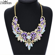 A bestselling classic feathers type multicolor diamond necklace factory direct sale