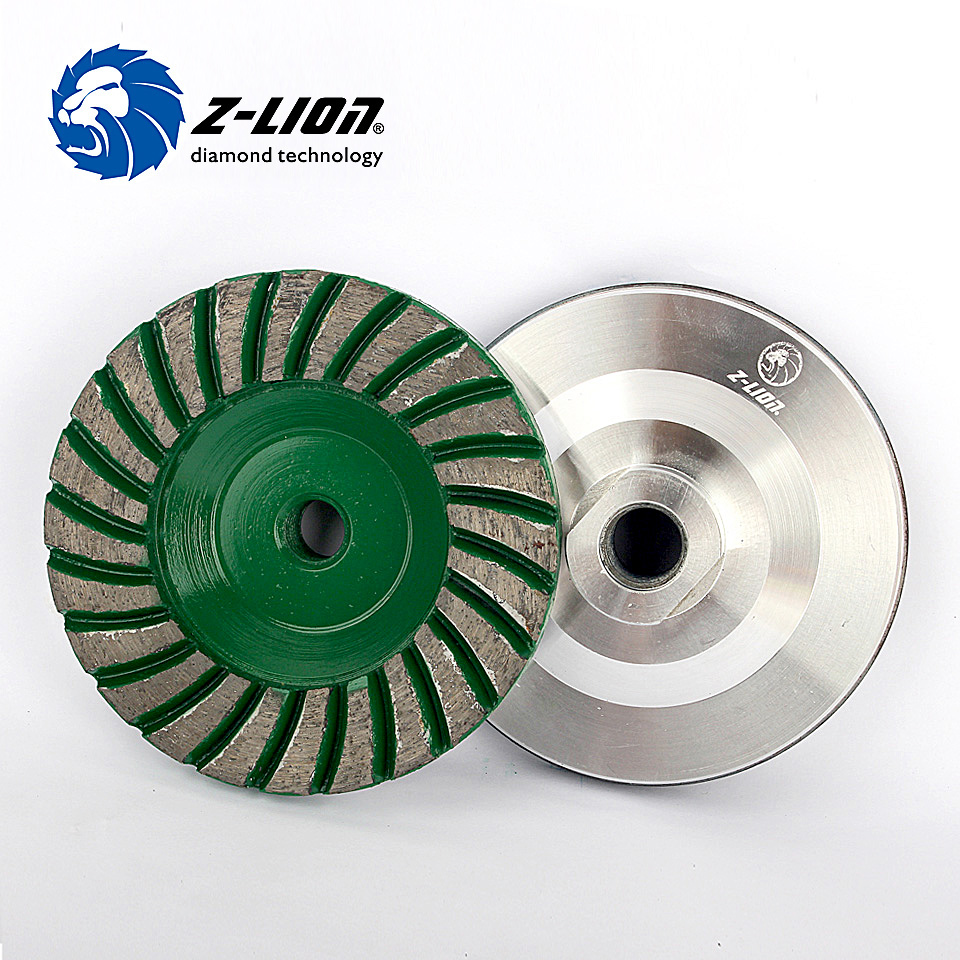 Z-Lion 1 Pcs 4 Diamond Grinding Cup100mm m14 Aluninum Backer Premium Quality Segment Grinding Wheel For Marble Stone Polish<br>