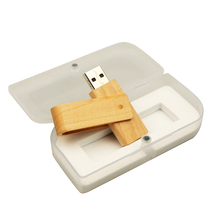 15Pcs free Customized logo wooden usb Flash Drive 16GB 32GB wood USB 4GB 8GB Pen Drive Color printing logo USB with white box(China)