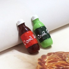 50pcs/lot 30*11mm lovely Resin mini Coke Sprite bottles kawaii flatback cabochon for for phone case decoration(China)