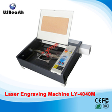 New LY 4040M 50W CO2 Laser cutting machine 220V/110V upgraded square rail ship to EU no tax