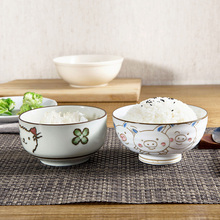 Under glaze color ceramic small rice  bowl of household utensils lovely bowl  kitchenware