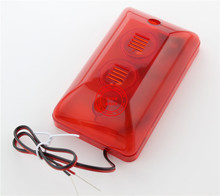 12V sound and light alarm horn flashing lights wired Siren Strobe lights 102(China)