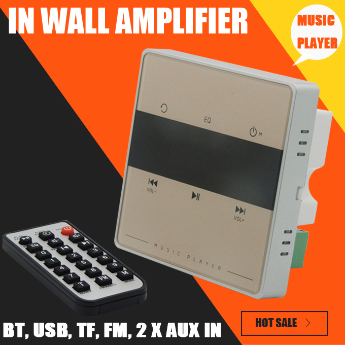 Home Audio system,music system,Ceiling Speaker system,Bluetooth digital stereo amplifier, in wall amplifier with touch key <br>
