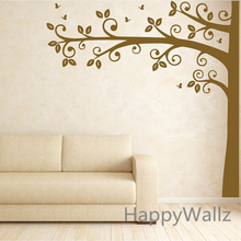 Baby Nursery Tree Wall Sticker Corner LargeTree Wall Decal Kids Room DIY Tree Wallpaper Children Decors Hot Sale T32(China)