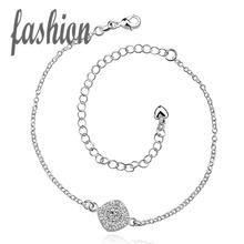silver plated Anklet,New Design Fashion silver plated jewelry,Delicate Handmade Cheap Anklets for gift SMTA037-B