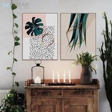 Grünpflanzen Monstera Blatt Foto Poster Nordic Stil Wohnzimmer Wandkunst  Bilder Wohnkultur Leinwand Malerei Kein Rahmen(