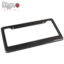 DYNO FREE SHIPPING CARBON FIBER TAG COVER ORIGINAL LICENSE PLATE FRAME 3K TWILL Fit Nouth America Car