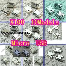 10 Models Widely Using 5-PIN Micro Mini USB Connectors Plug jack fit for MP3, MP4, Phone, Tablet, Netbook