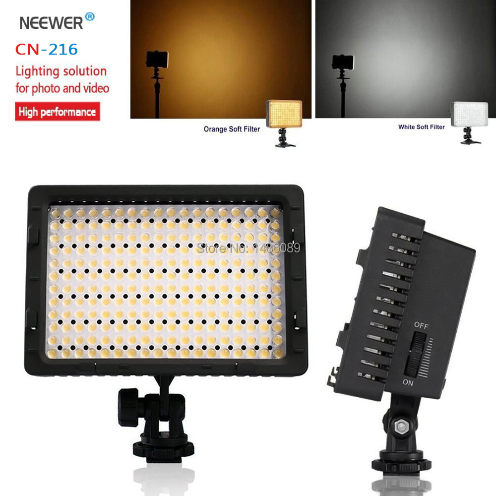 NEEWER CN-216 Ultra High Power Panel Digital Camera / Camcorder Video Light, LED Light for Canon Nikon SONY  Digital SLR Cameras<br><br>Aliexpress