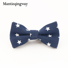 Mantieqingway Boy Bow Ties for Child Wedding Print Cravat Children Bowties Cotton & Linen Bowknot Gift Noeud Papillon Gravata(China)